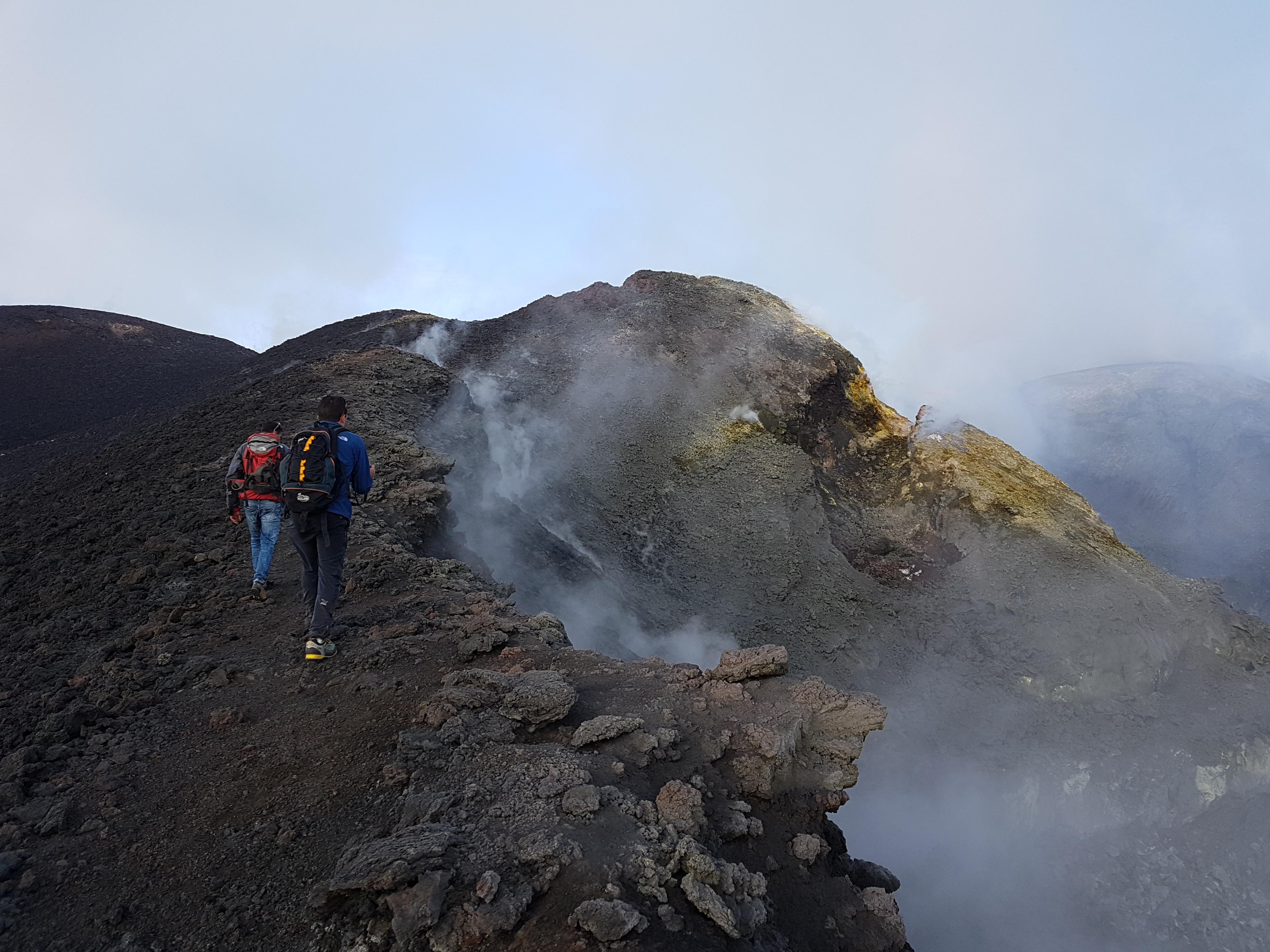 Etna beklimming top