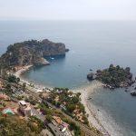 Isola Bella vista da un punto panoramico