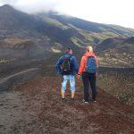 Vista dalla cratere Silvestri superiore