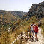 Sentiero per scendere Laghetti di Avola - Cavagrande