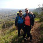 Alessandro e Anniek sopra il cratere di Monte Ilice Etna Sicilia