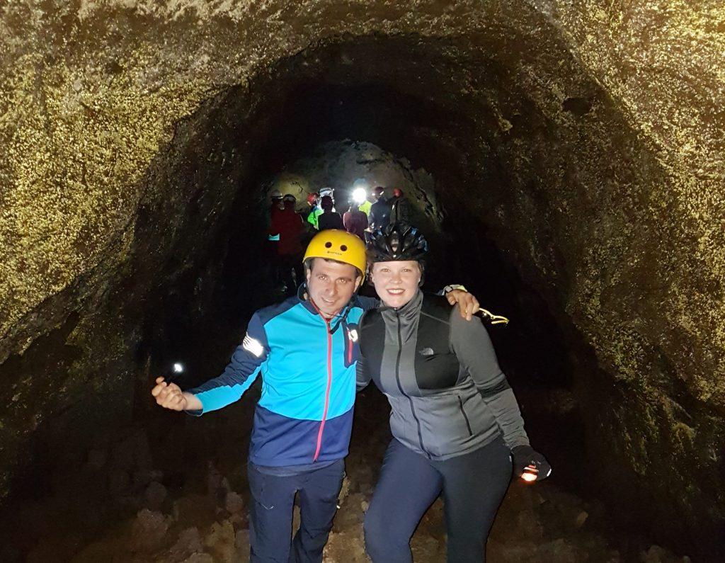 Anniek e Alessandro nella grotta Cicirello