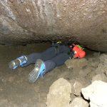 Cunicolo nella Grotta dei tre livelli