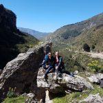 Noi sulle rocce vicino a Catafurco in mezzo alla natura