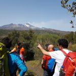 Vista sull'Etna sud da monte Ilice