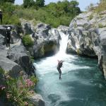 Alcantara jumping excursie - Alcantara rivier Sicilië
