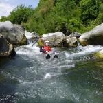 Glijden in de Alcantara rivier
