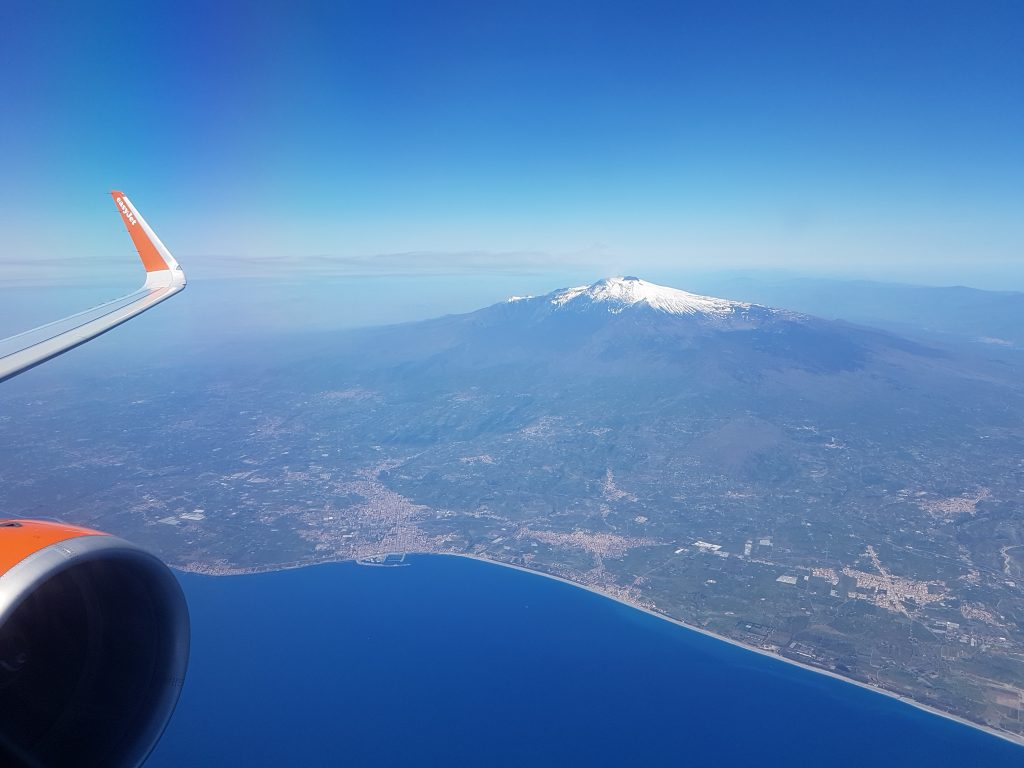 Vliegen naar Sicilië - Catania - Etna vulkaan