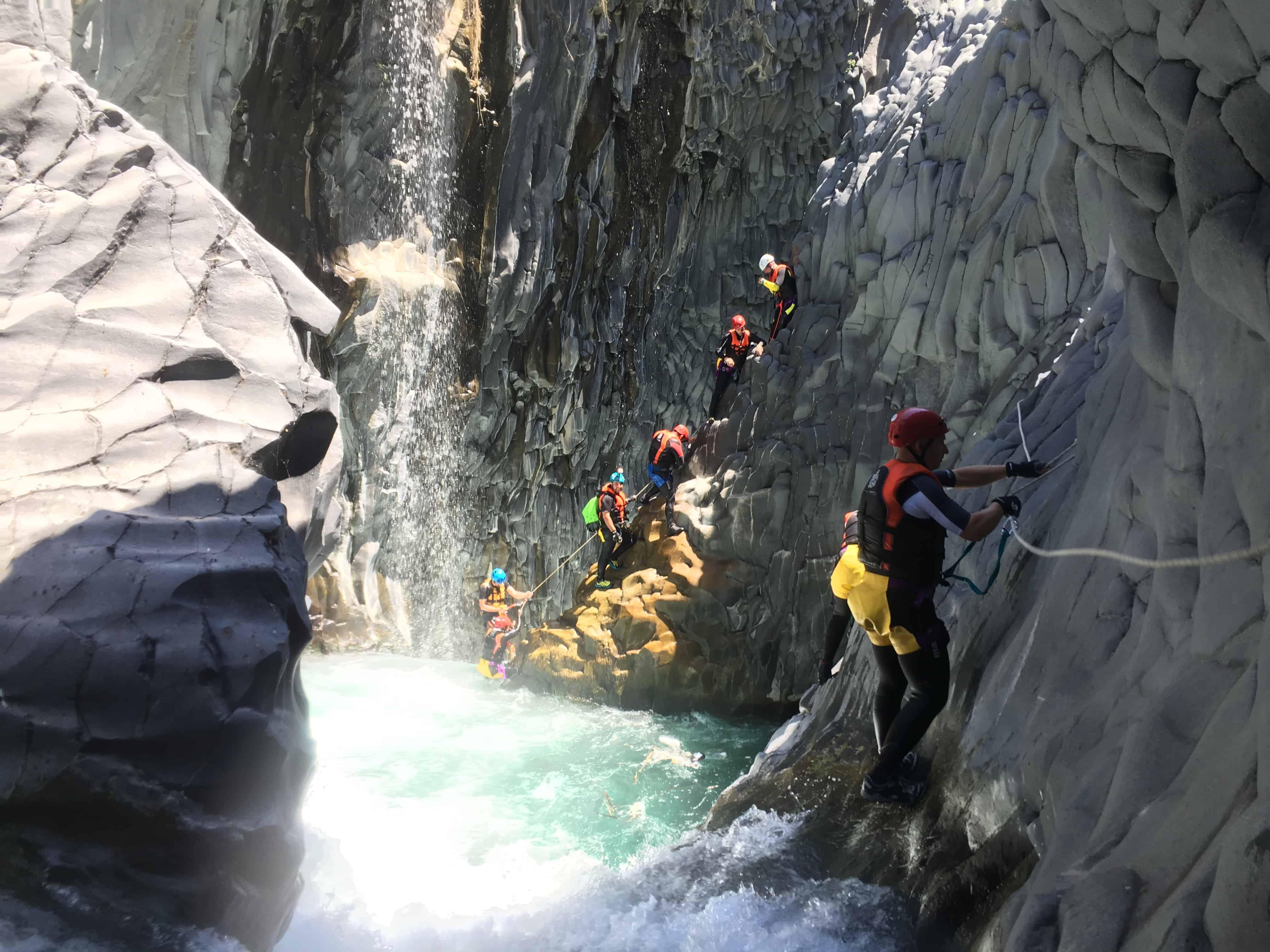 Canyoning Alcantara rivier