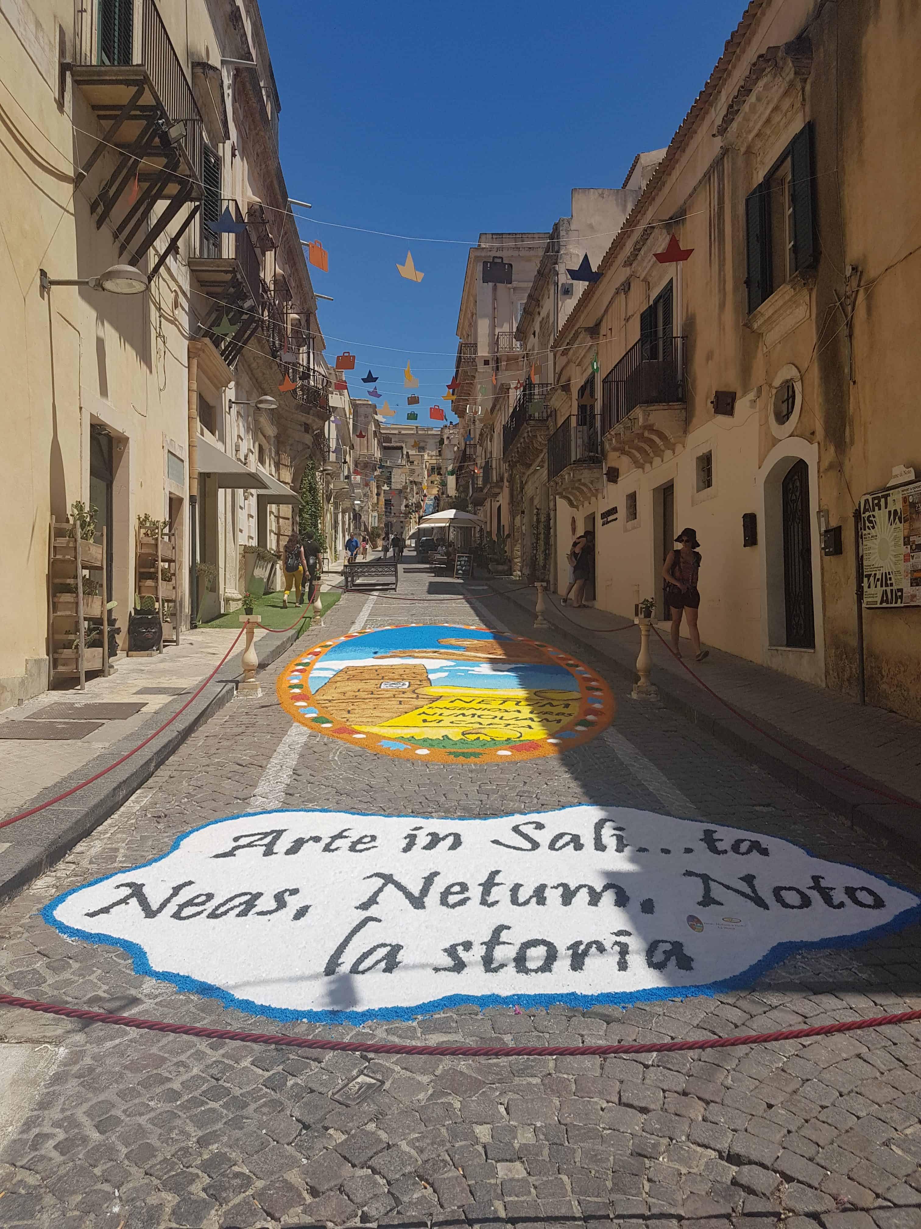 Infiorata Noto Sicilië