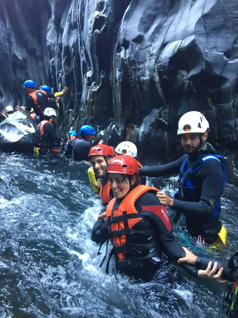 Body rafting dentro le Gole dell'Alcantara