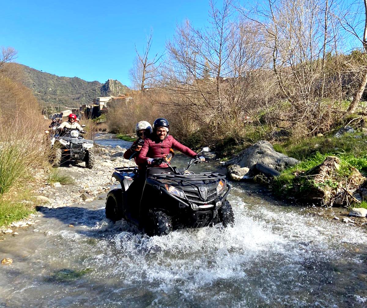 Escursione quad - Fiume Alcantara