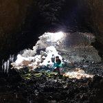 grotta dei rotoli etna nord inverno