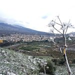 linguaglossa inverno neve nuvoloso