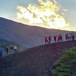 trekking monti sartorius tramonto