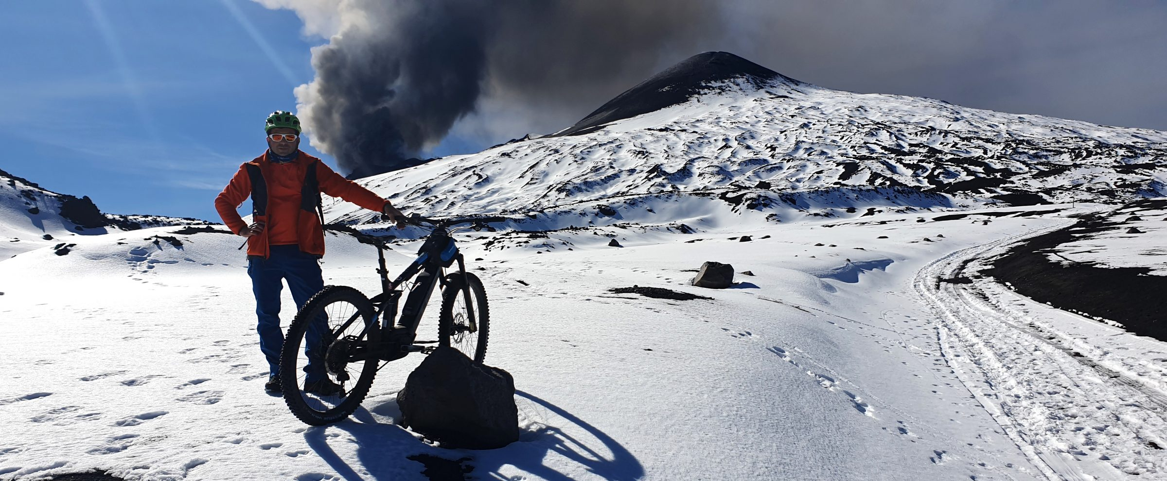 E-bike neve vulcano